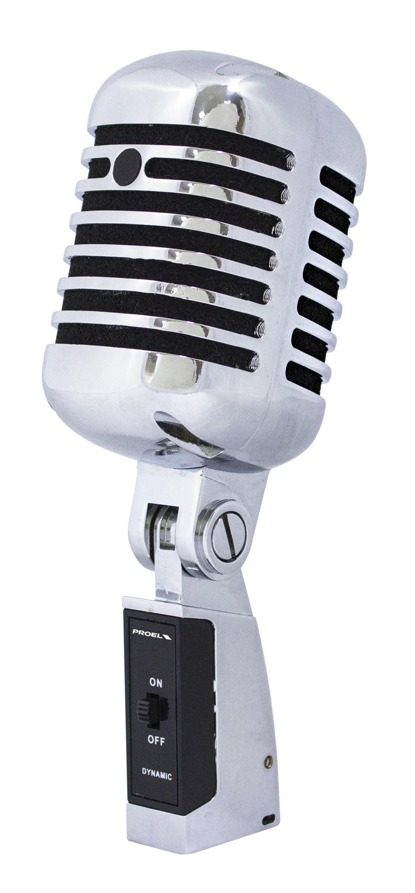 PROEL DM55V2 - Microfono dinamico old style in metallo