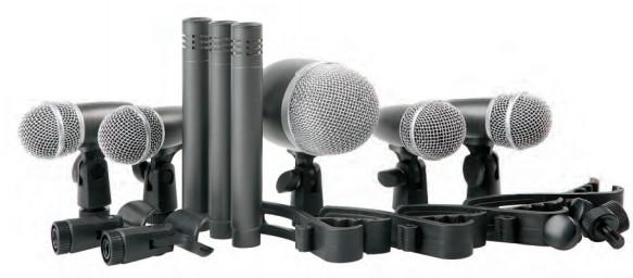 PROEL DMH8XL - Set 8 microfoni per batteria