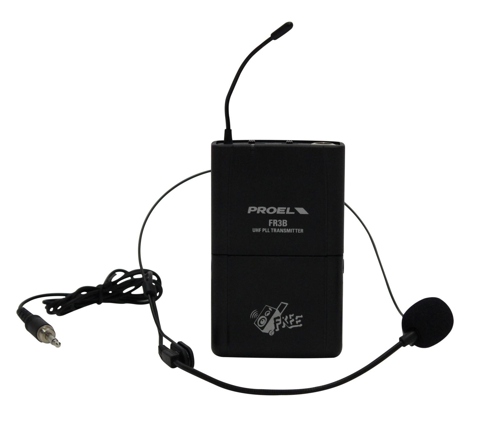 PROEL FR6LTKITB - Kit trasmetittore bodypack e microfono headset.
