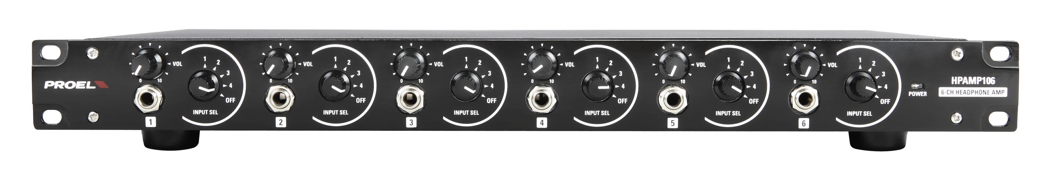 PROEL HPAMP106 - Amplificatore per cuffie a 6 canali