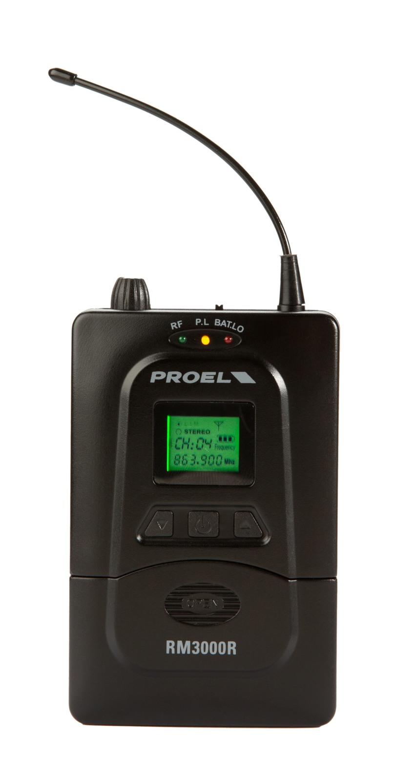PROEL RM3000R - PLL UHF In-ear Wireless Receiver