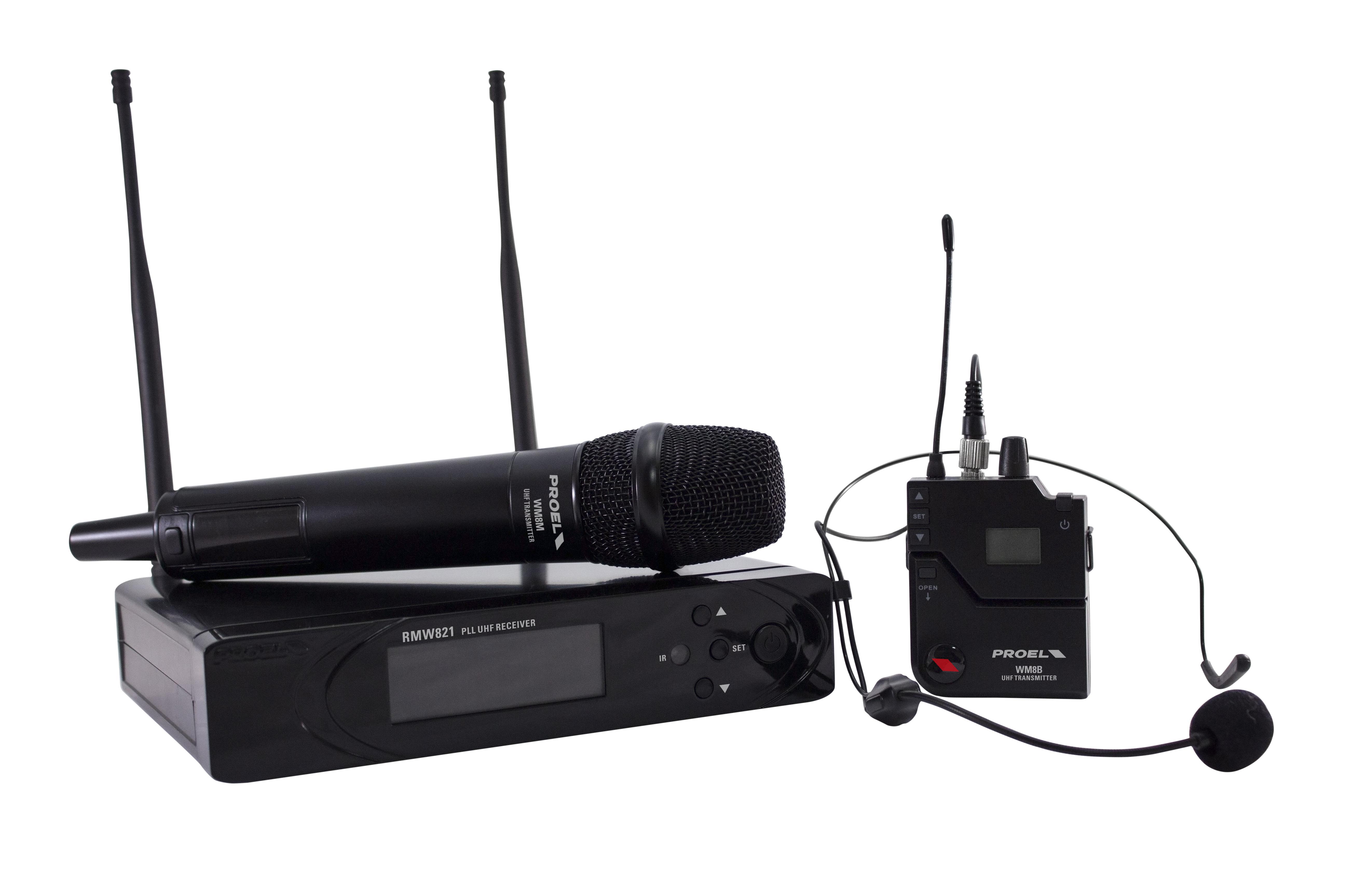 PROEL RMW821M - PLL UHF Wireless Handheld Microphone System