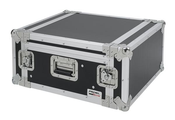 PROEL SA04BLKM - Custodia COMBO 19 4U con portamixer 10U regolabile in altezza, profonda 45 cm.
