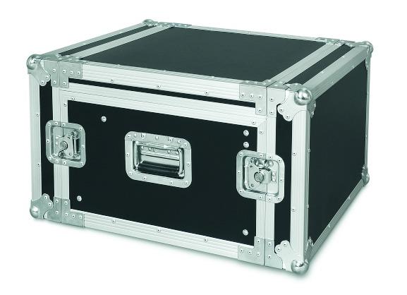 PROEL SA06BLKM - Custodia COMBO 19 6U con portamixer 10U regolabile in altezza, profonda 45 cm.